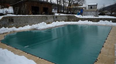Piscine d'inverno tipo di copertura