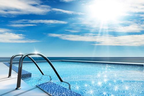piscina  skimmer da esterno