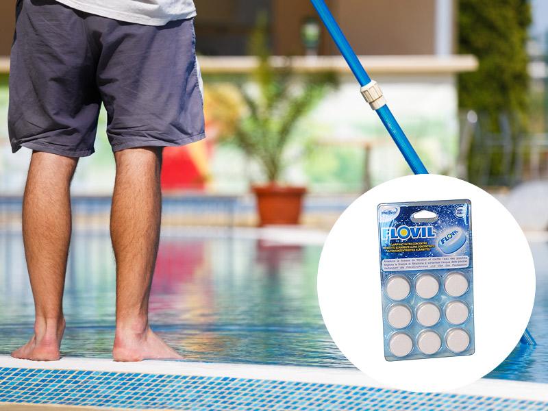 pastiglie per pulizia acqua piscine