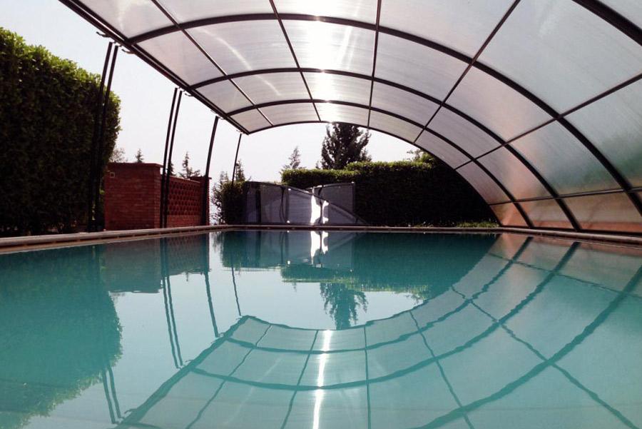 coperture per piscine interrate basse asportabili