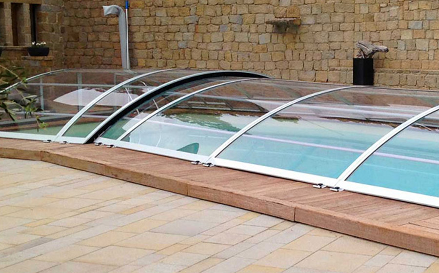 coperture per piscine interrate basse - Green House & Piscine