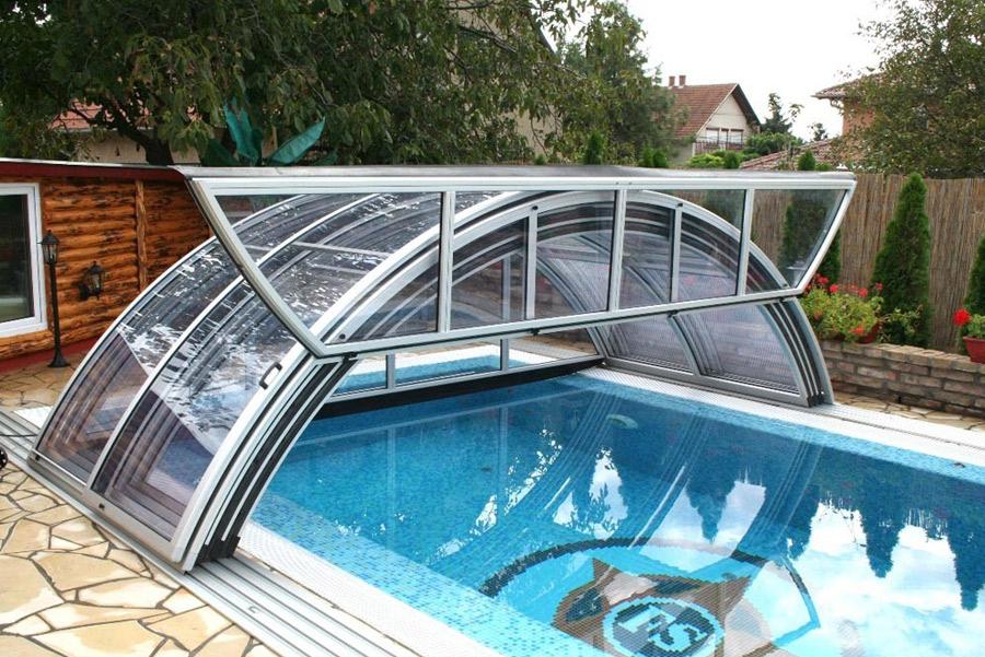 coperture per piscine interrate basse telescopiche