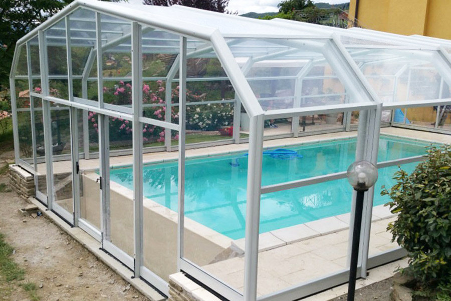 coperture per piscine interrate alte personalizzate