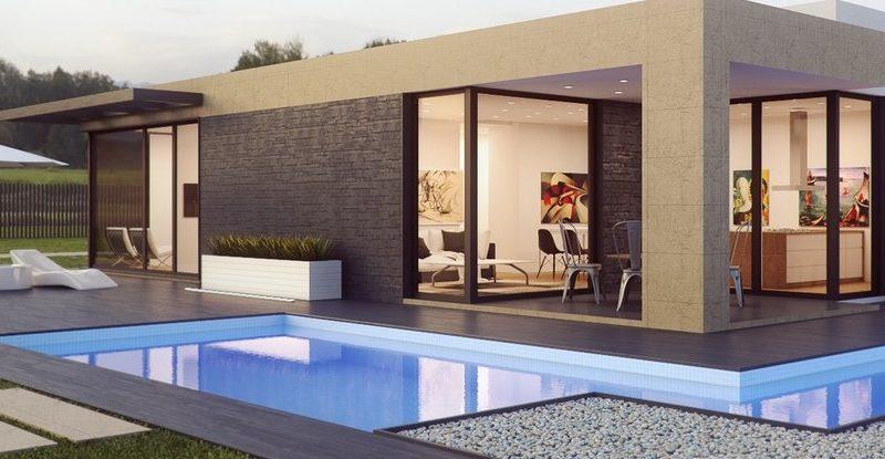 esempi di piscina da giardino e architettura